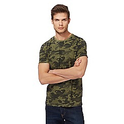 Red Herring - Khaki camo print t-shirt