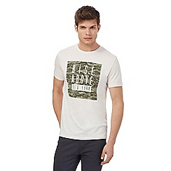 Red Herring - White 'Rise Above New York' camouflage print t-shirt