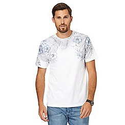 Red Herring - Big and tall white floral print t-shirt