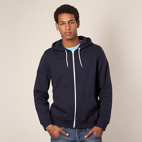 Red Herring - Dark blue zip through hoodie