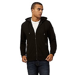 Red Herring - Black zip through hoodie