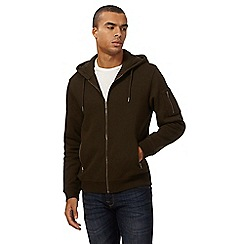 Red Herring - Khaki zip through hoodie