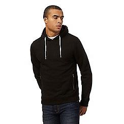 Red Herring - Big and tall black overhead hoodie
