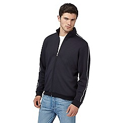 Red Herring - Big and tall navy funnel neck jacket