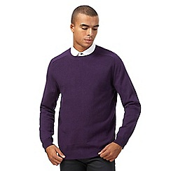 Red Herring - Purple textured jumper