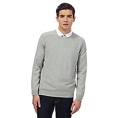Red Herring - Grey textured jumper