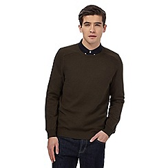 Red Herring - Khaki textured jumper