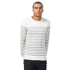 Red Herring - Big and tall natural striped jumper