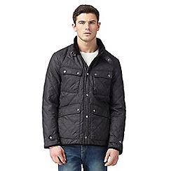 Red Herring - Dark grey quilted four pocket jacket