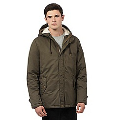 Red Herring - Khaki cotton fishtail parka