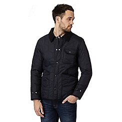 Red Herring - Big and tall navy quilted jacket