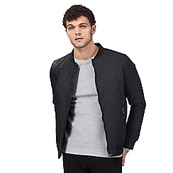 Red Herring - Black quilted bomber jacket