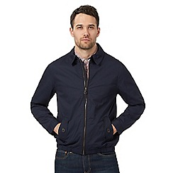 Red Herring - Big and tall navy collared harrington jacket