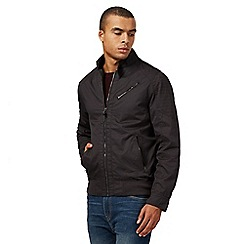 Red Herring - Big and tall dark grey harrington jacket