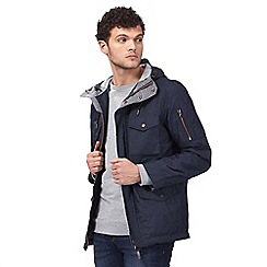 Red Herring - Big and tall navy hooded jacket
