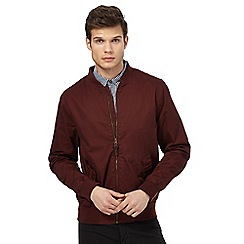 Red Herring - Big and tall dark red bomber jacket