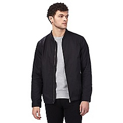 Red Herring - Big and tall black bomber jacket