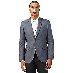 Red Herring - Big and tall grey wool herringbone blazer jacket