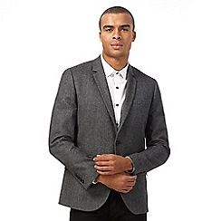 Red Herring - Grey herringbone blazer with wool