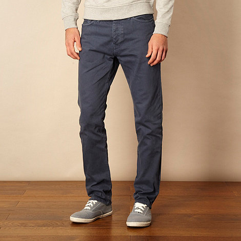 Red Herring - Big and tall navy blue straight leg jeans