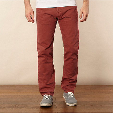 Red Herring - Big and tall plum straight leg jeans