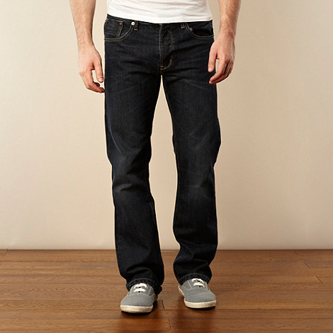 Red Herring - Dark blue wash bootcut jeans