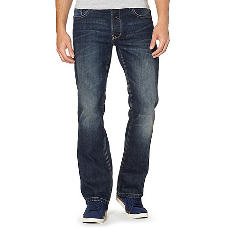 Red Herring - Dark blue bootcut jeans