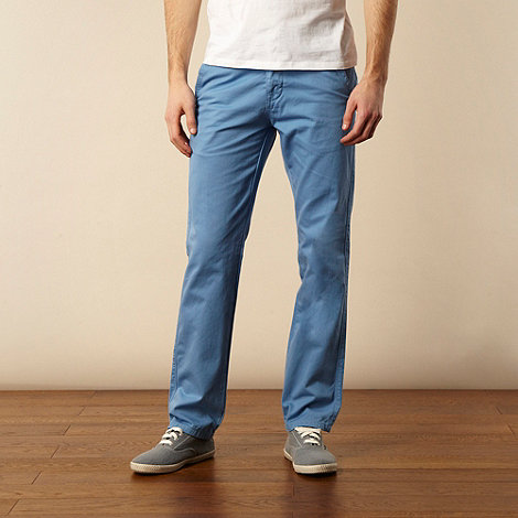Red Herring - Bright blue straight leg chinos