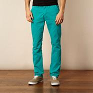 Bright green slim fit chinos