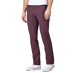 Red Herring - Purple slim chino trousers