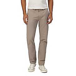 Red Herring - Big and tall light grey slim chino trousers