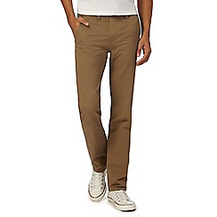 Red Herring - Big and tall brown slim chino trousers