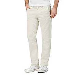Red Herring - Big and tall cream slim chinos