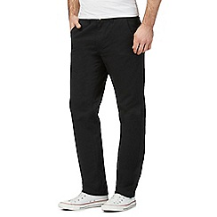 Red Herring - Big and tall black straight leg chinos