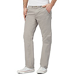 Red Herring - Big and tall grey straight leg chinos