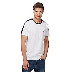 Red Herring - Big and tall white 'new york' print t-shirt
