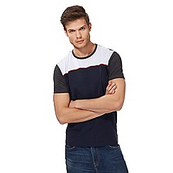 Red Herring - Big and tall navy contrasting yoke t-shirt