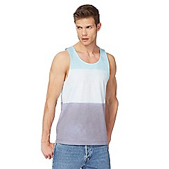 Red Herring - Big and tall blue colour block vest top
