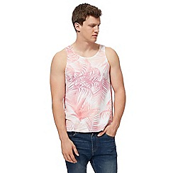 Red Herring - White and pink palm print vest