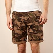 Dark green camouflage shorts
