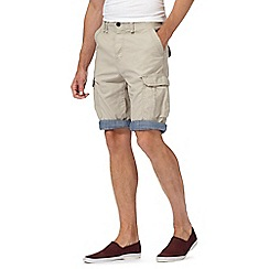 Red Herring - Big and tall natural cargo shorts