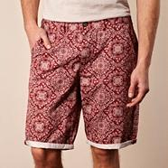 Red paisley patterned shorts