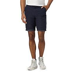 Red Herring - Big and tall navy pin dot shorts