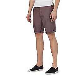 Red Herring - Big and tall dark red chino shorts