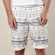 Navy aztec printed shorts