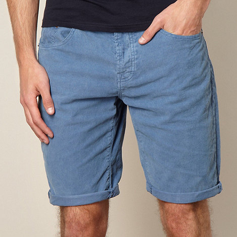 Red Herring - Blue corduroy shorts