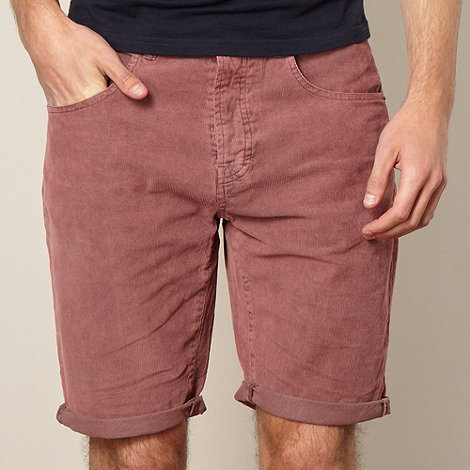 Red Herring - Maroon corduroy shorts