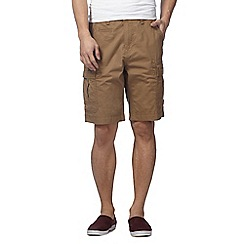 Red Herring - Big and tall light brown cargo shorts