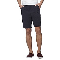 Red Herring - Big and tall navy geometric print chino shorts