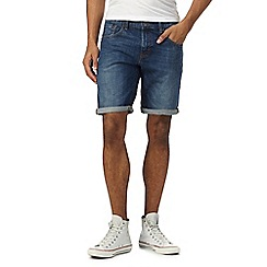 Red Herring - Blue mid wash denim shorts